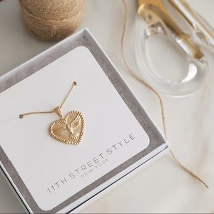 Dove Heart Necklace | 18k Gold Filled